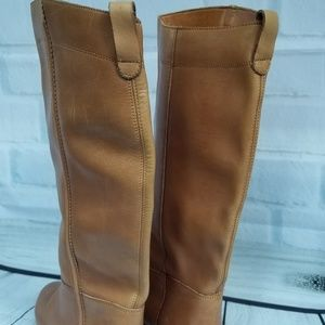b6857b6b85335 Honey Brown Leather Boots Bootalinos by Corelli